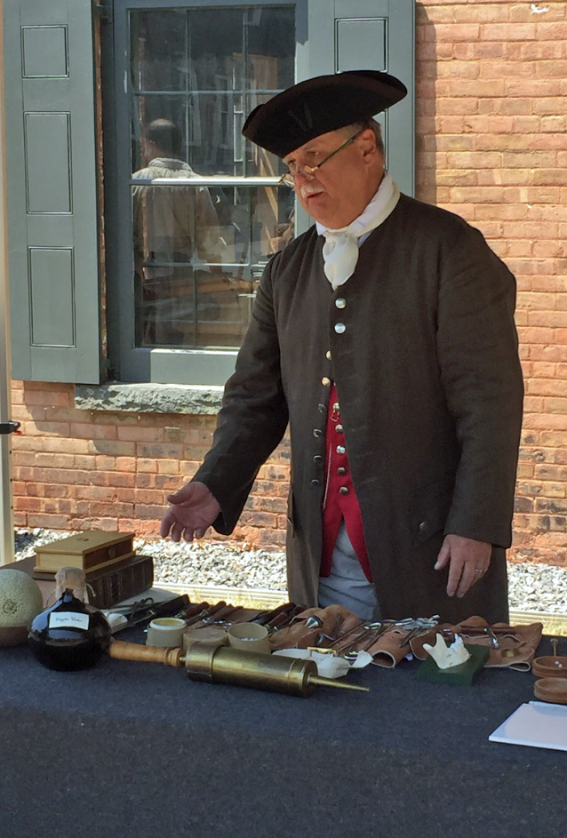 County Clerk » Don Terpening, Revolutionary War Medical Re-enactor at the Persen House