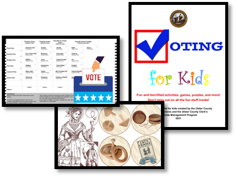 """County Clerk » """"Voting for Kids"""" Activity Packet Release Presented by the Ulster County Board of Elections and Ulster County Clerk's Office"""
